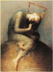 Bild zum Thema Schmerztherapie von George Frederic Watts 1886 Titel: Hope